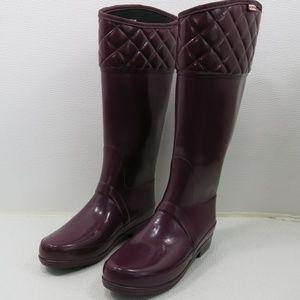 Hunter Tall Rubber Rain Comfort Outdoor Boots 7